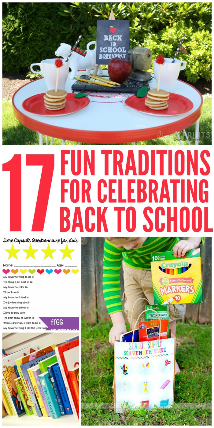 17 Fun Traditions for Celebrating Back to School