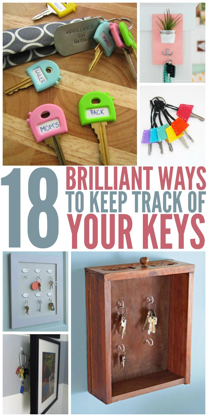 18 Brilliant Ways to Keep Track of Keys - Never lose them again!!