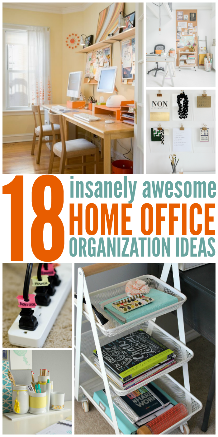18 insanely awesome home office organization ideas Organizing home