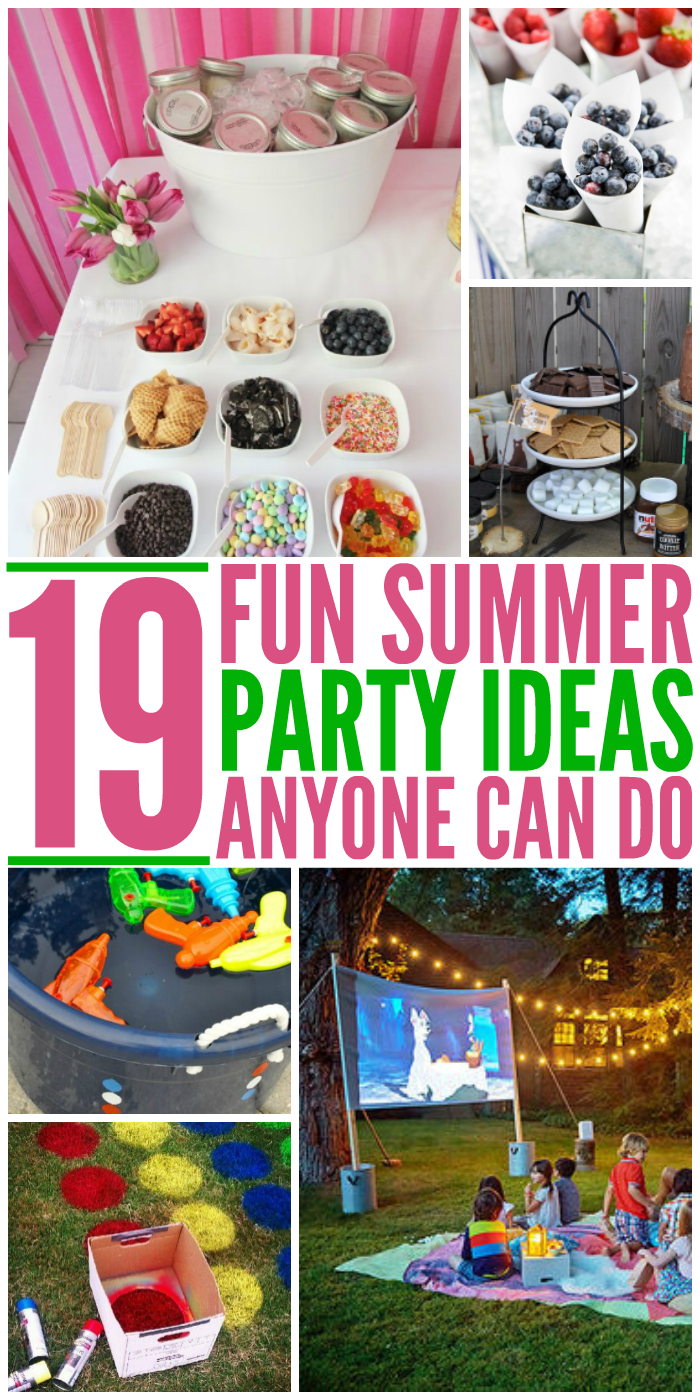 Summer time is party time and nobody likes their parties looking the same as everyone else. Check out these great and unique DIY party ideas and tips.