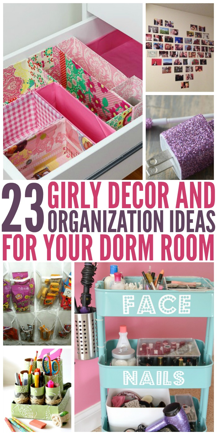 Make your dorm room a home away from home with these fun DIY decoration and organization ideas!