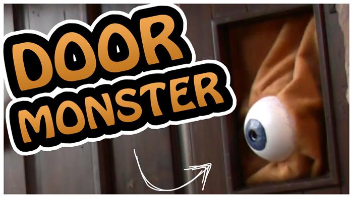 Eyeball peaking out of door