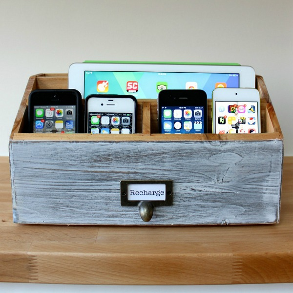 16 charging station ideas to eliminate device clutter Diy cell phone charging station