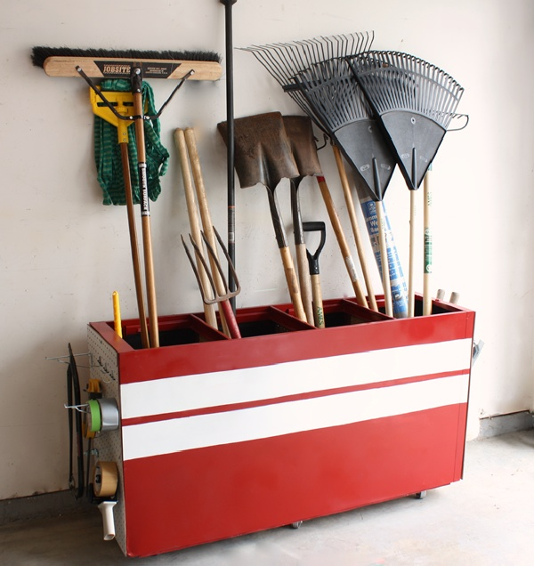 Garden Tool Storage Ideas plans for a garden tool rack this is inspiration looking for ideas Organize Garden Tools 16