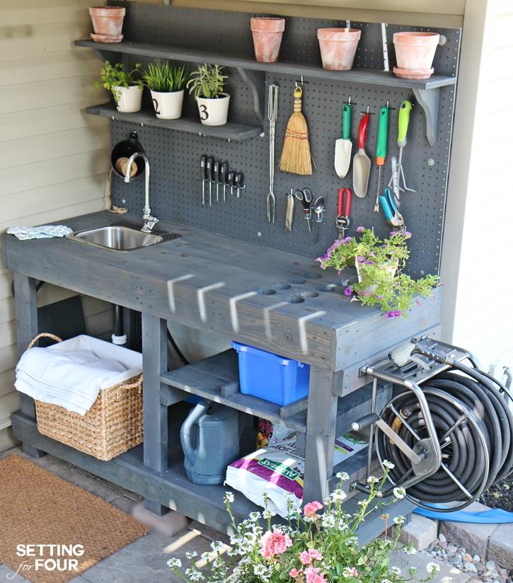 organize garden tools 17