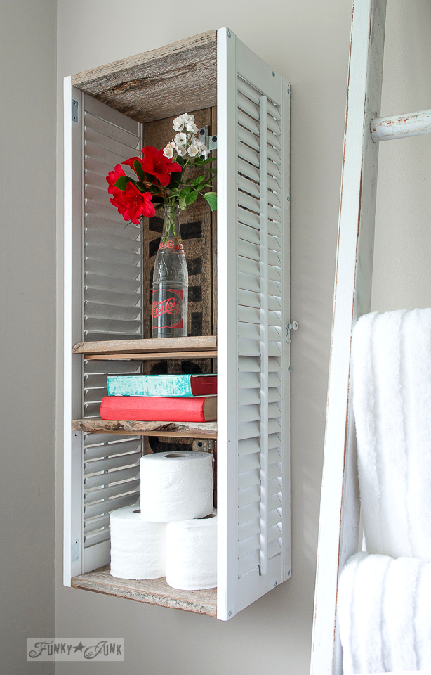 17 ways you 39 ve never thought to reuse old shutters - Porta shabby chic ...