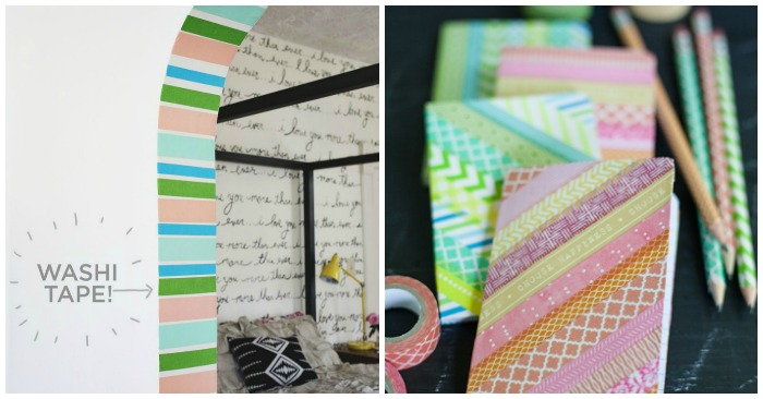 16 incredibly cool things to do with washi tape for Washi tape project ideas