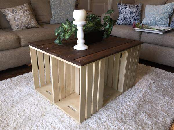 17 brilliant things to do with old wooden crates for How to make a coffee table out of crates