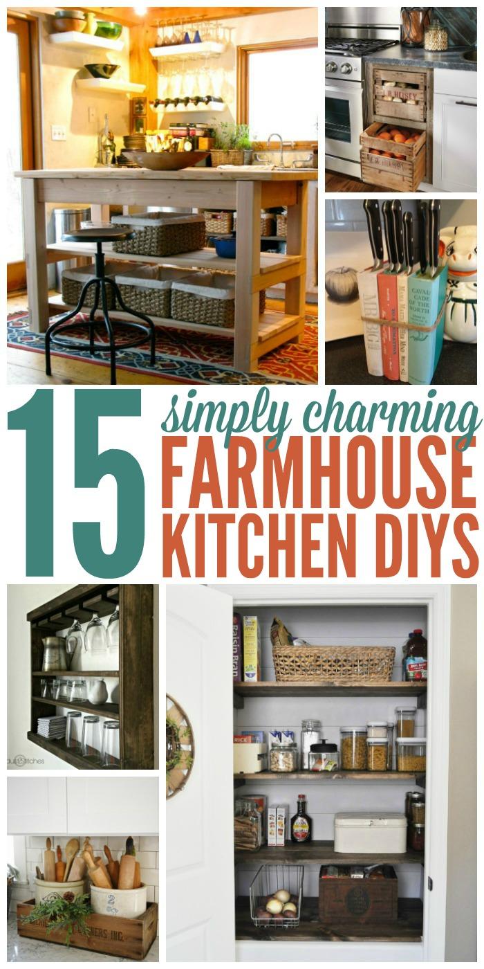 15 Charming Farmhouse Kitchen DIYs