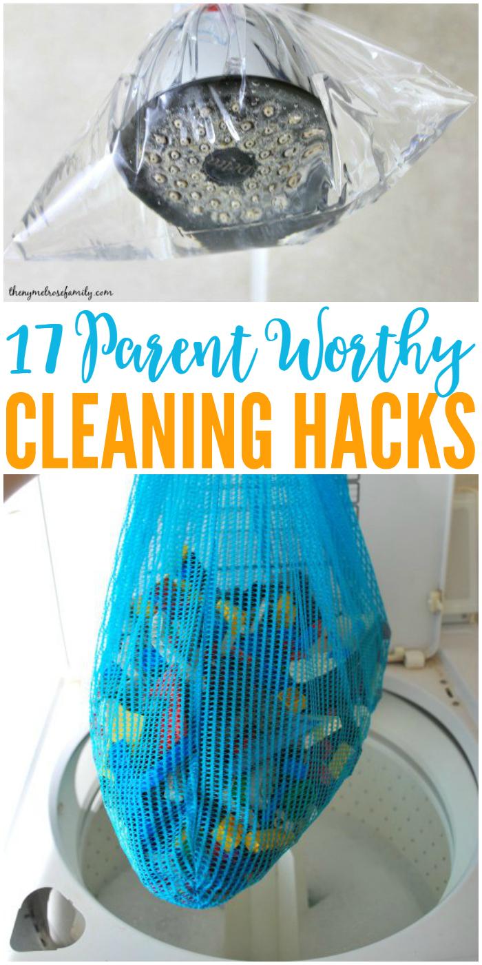 Parents unite! We've got 17 cleaning hacks to make our lives easier.