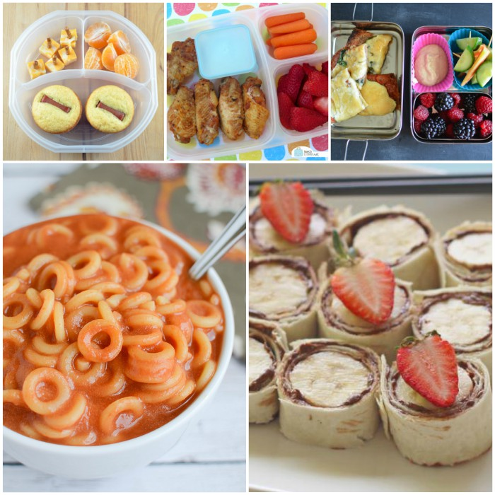 Easy and Yummy School Lunch Ideas image collage
