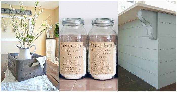 Charming Farmhouse Kitchen DIYs