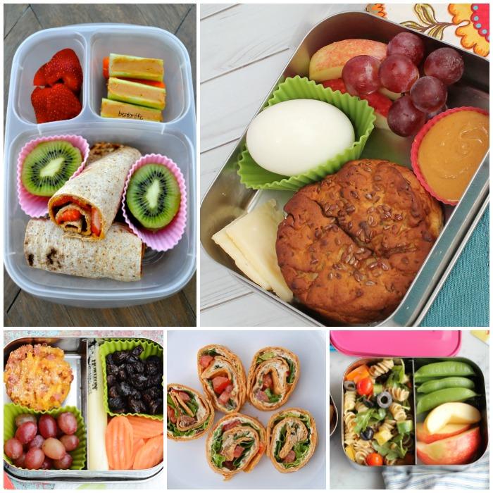 School Lunch Ideas Kids Will Love collage