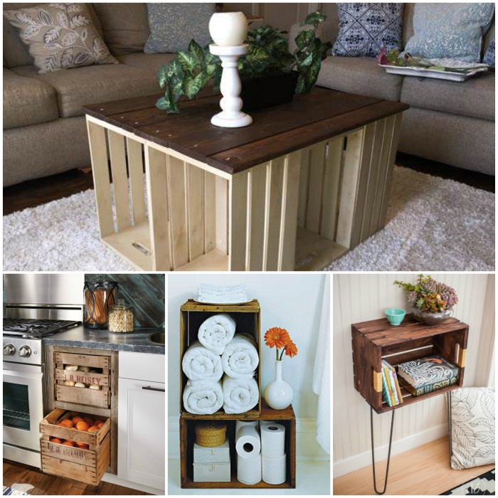 Wooden Crate Projects on Outdoor Rustic Country Deck Decor