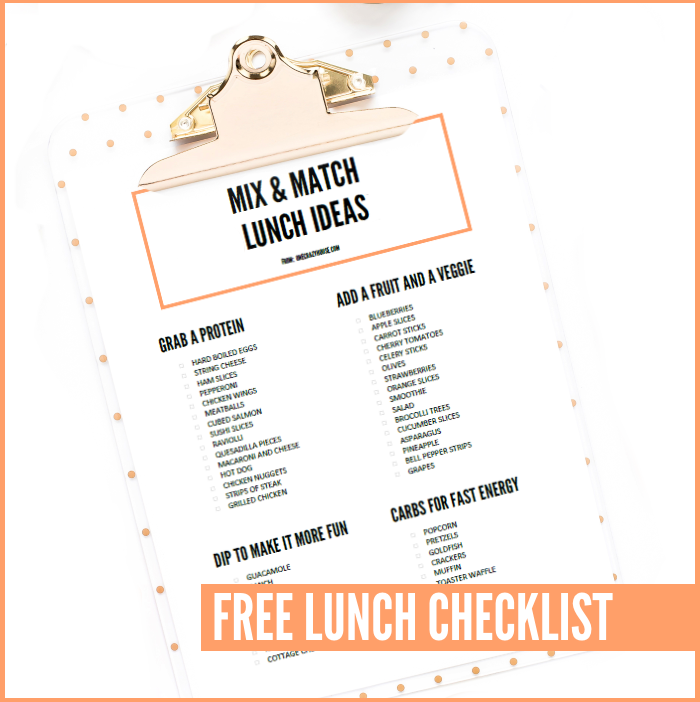 Lunch Checklist