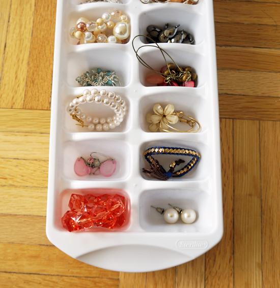 ice tray jewelry organizer
