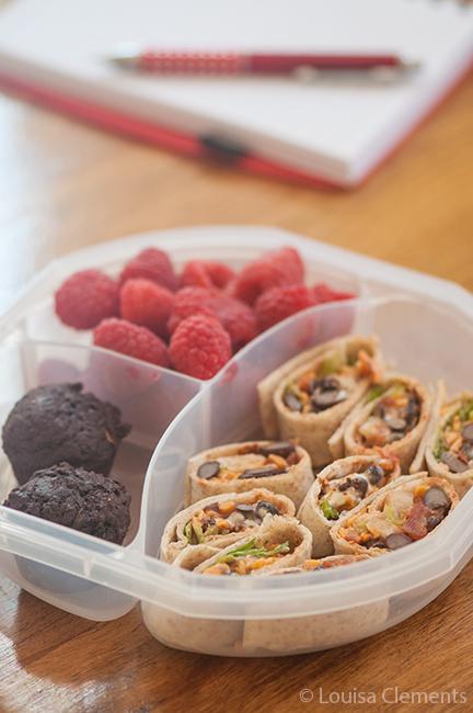 taco wraps with fruit
