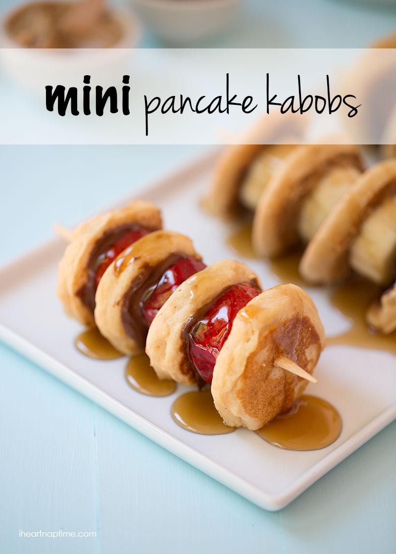 mini pancake kabobs