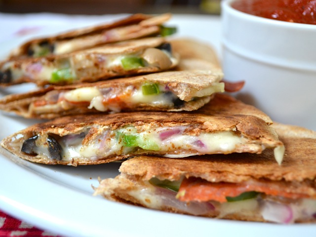 Pizzadilla make great school lunch ideas for kids