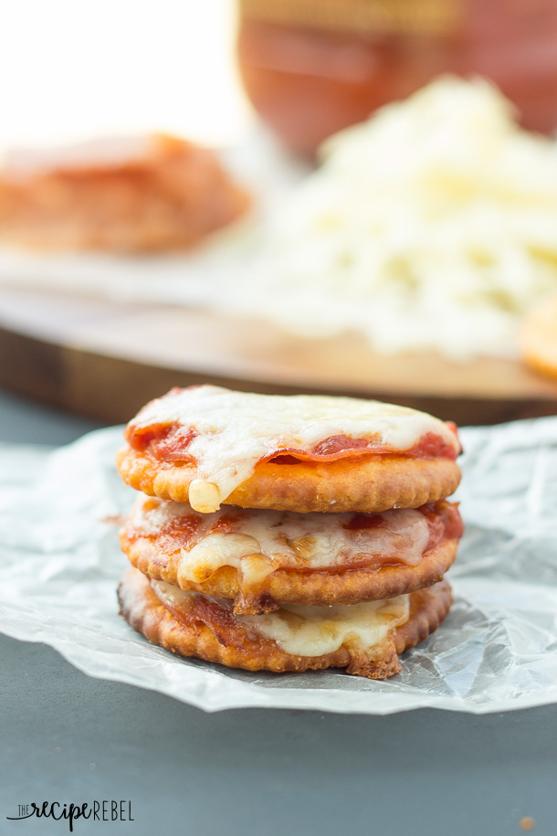 stack of 3 pizza crackers