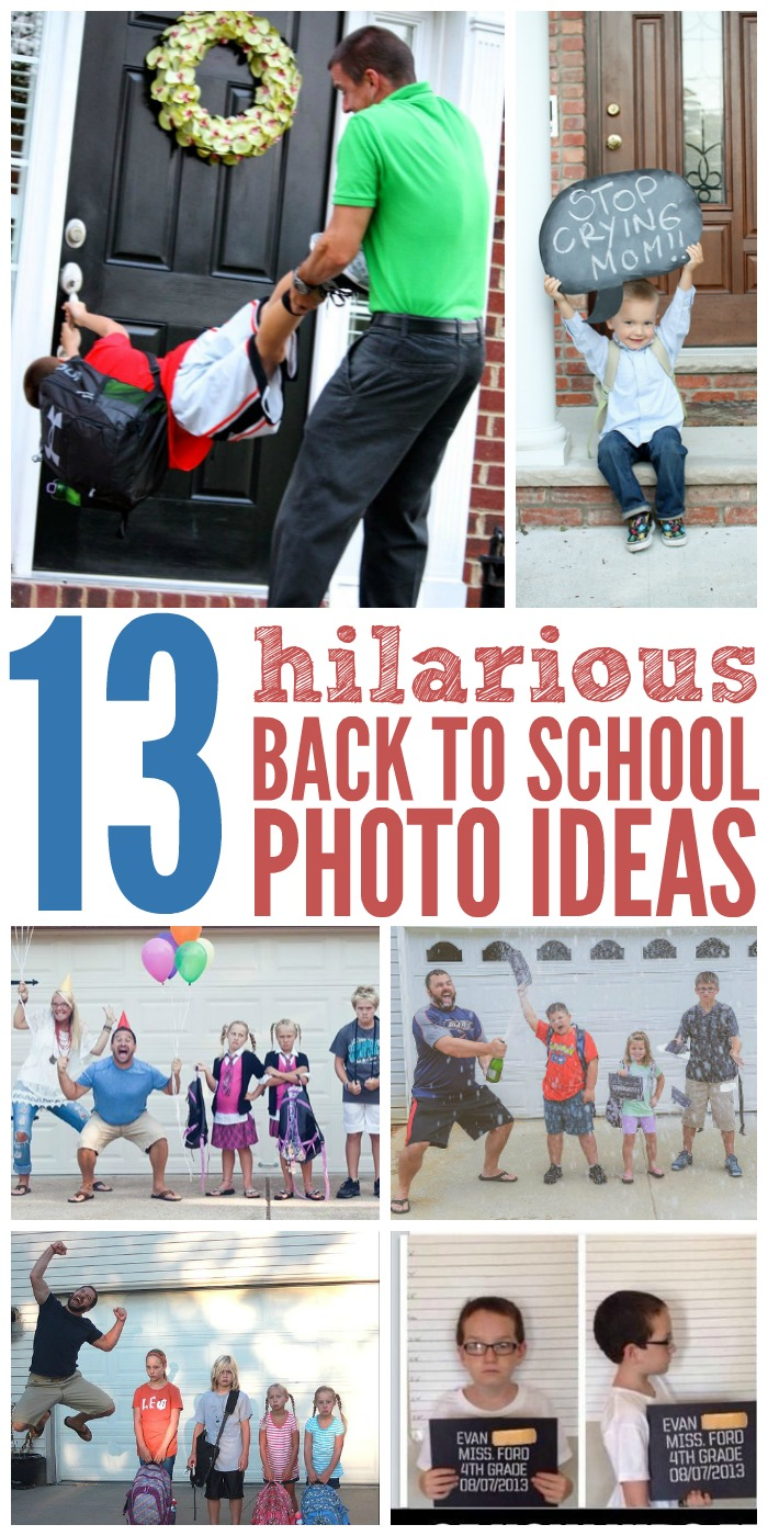 13 Hilarious Back To School Photo Ideas