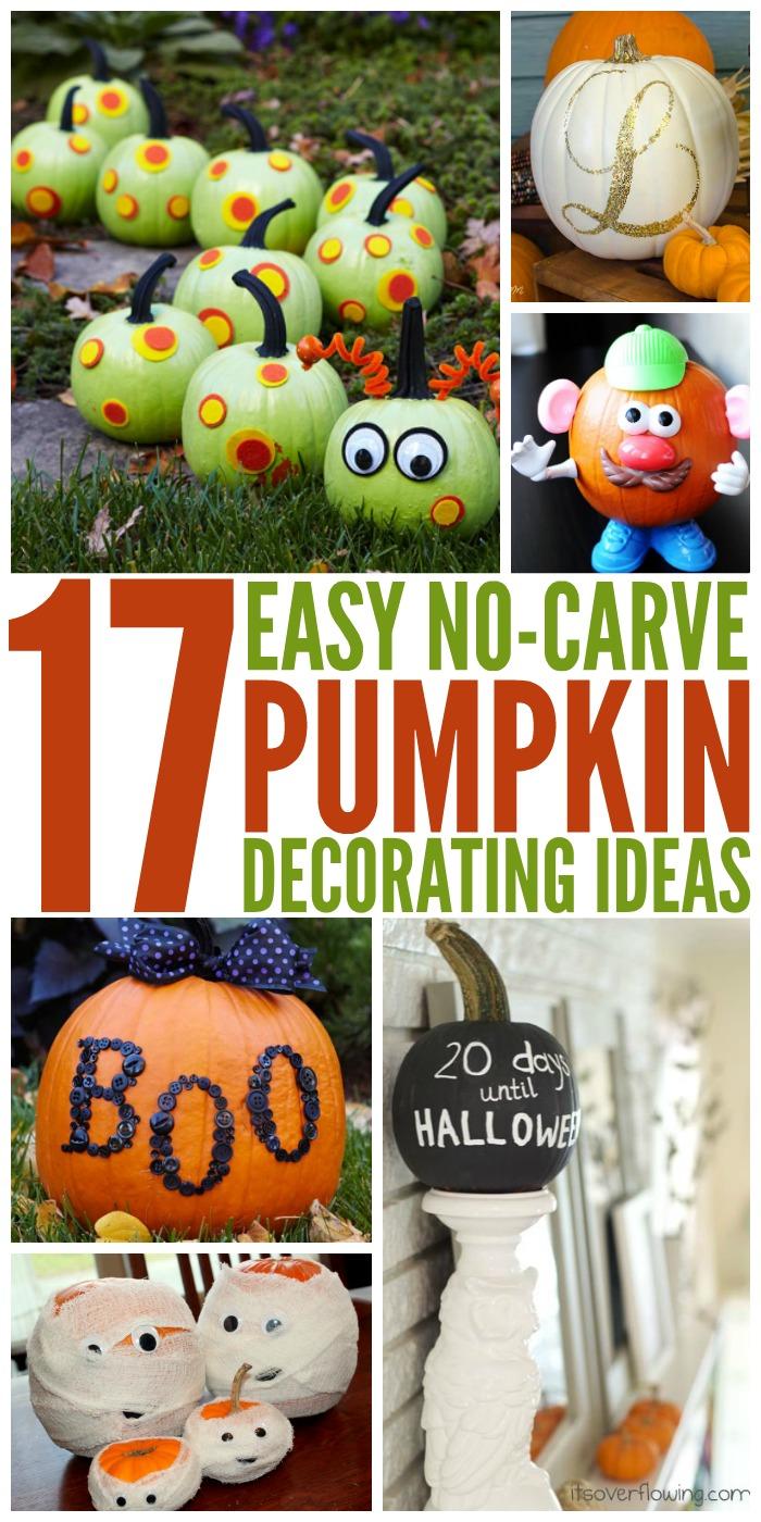 17 Creative No Carve Pumpkin Decorating Ideas The Most