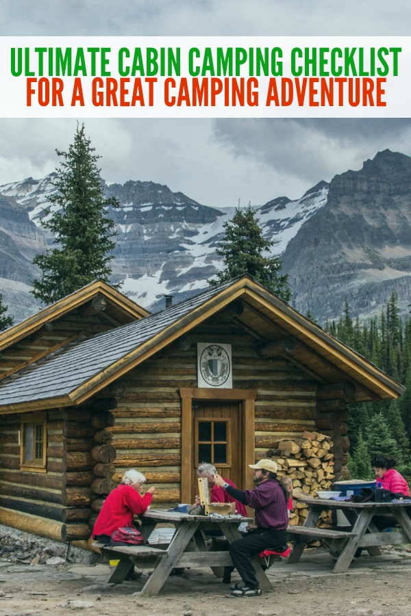 This cabin camping checklist is perfect for making certain you don't forget all the essential camping items for your camping trip! #onecrazyhouse #cabincampingchecklist #camping #outdoors