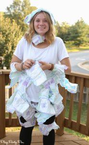 diaper fashion challenge baby shower game