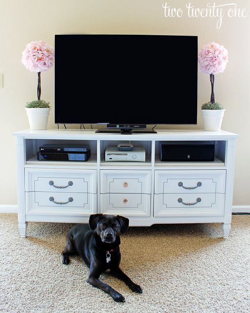 dresser to a tv stand