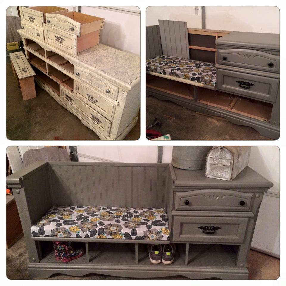 dresser to bench conversion