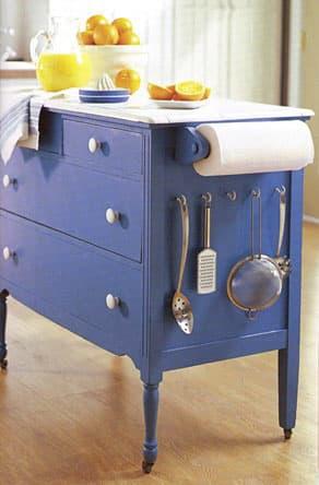 dresser turned kitchen island