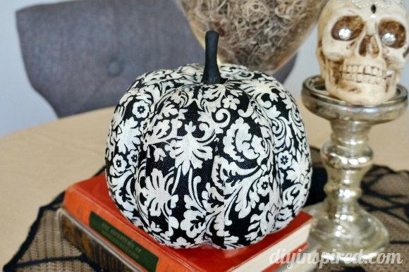 fabric covered pumpkin