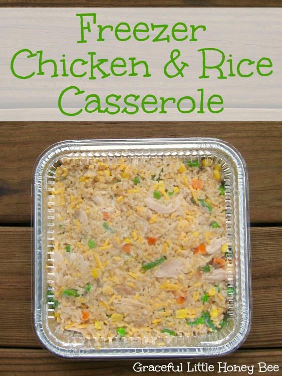freezer dinner chicken and rice casserole