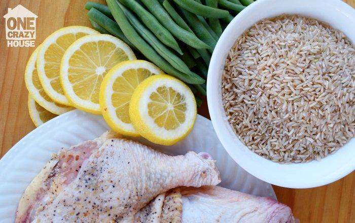freezer dinner lemon pepper chicken and rice