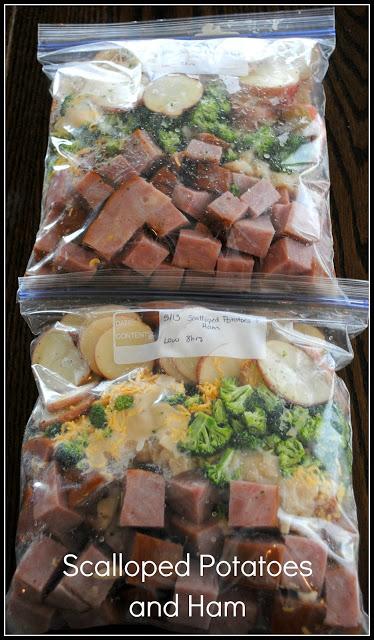 freezer dinner scalloped potatoes and ham