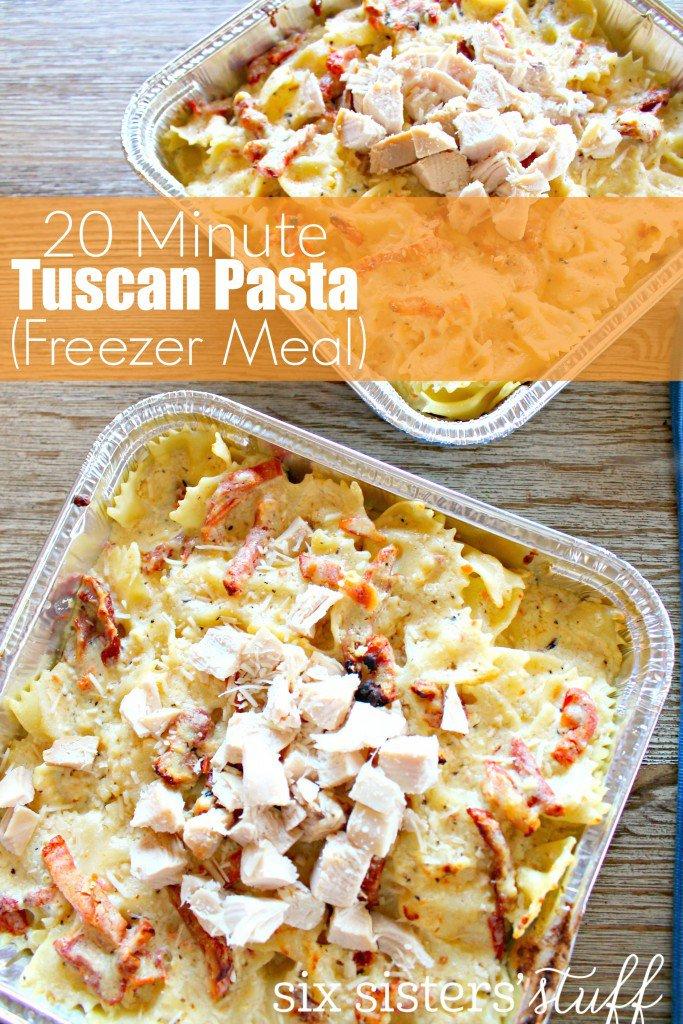 freezer dinner tuscan pasta