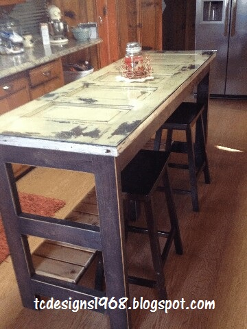 kitchen island from an old door