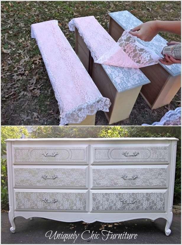 lace dresser makeover