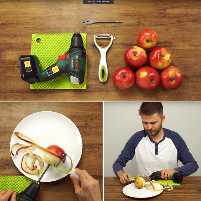 11 unusual uses for cordless power drills that are fun - Practical uses for the apple peels ...