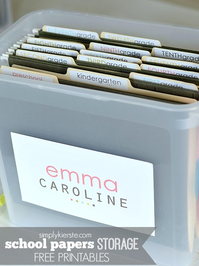 organizing tips tricks school paper storage