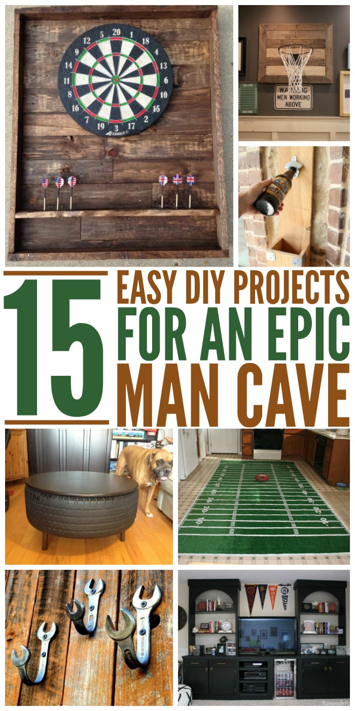 Diy Wall Art For Man Cave : Epic man cave diy ideas
