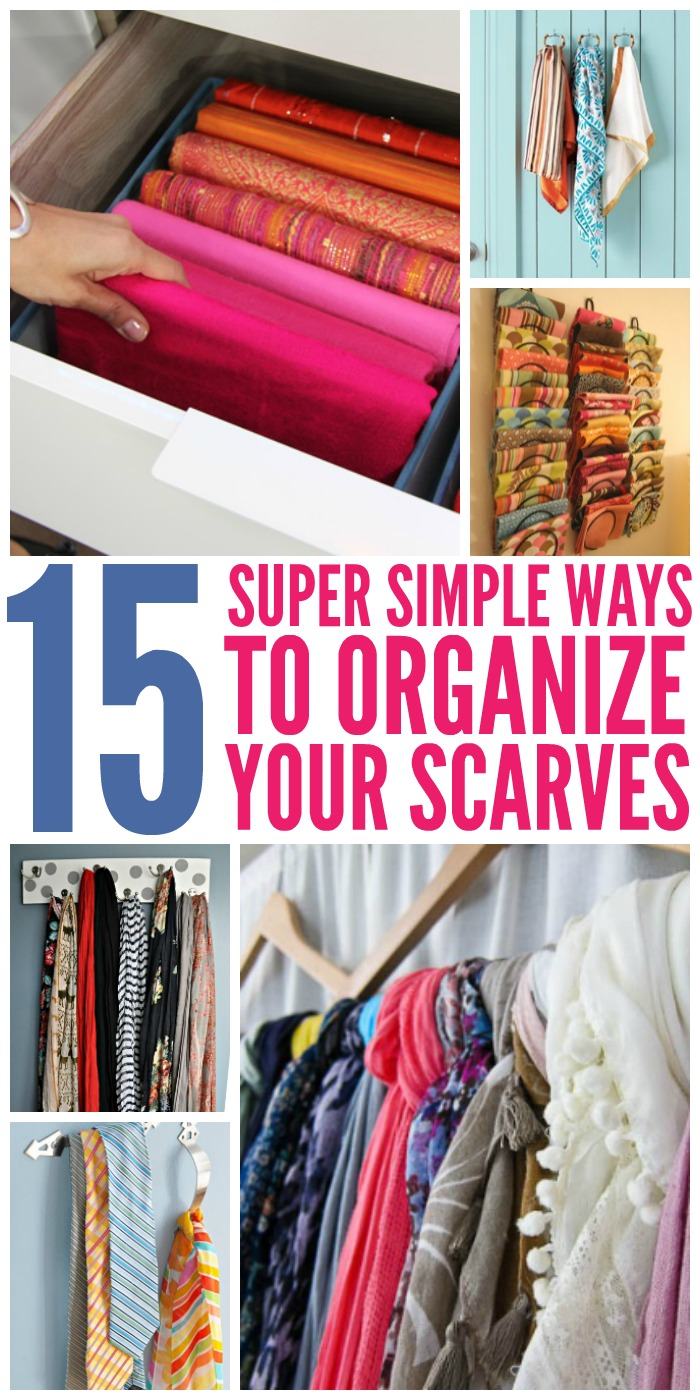 15 super simple ways to organize scarves for How do you organize your closet