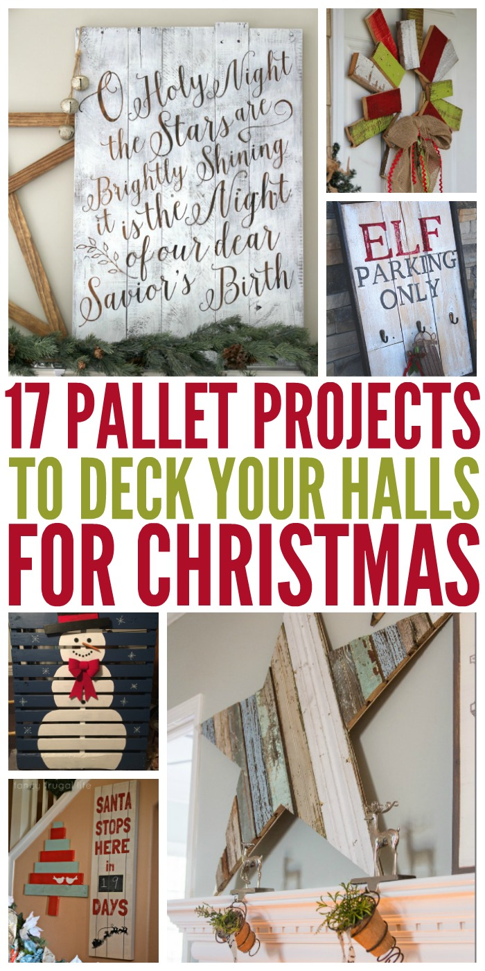 17 pallet projects to deck your halls for christmas for Diy christmas craft projects