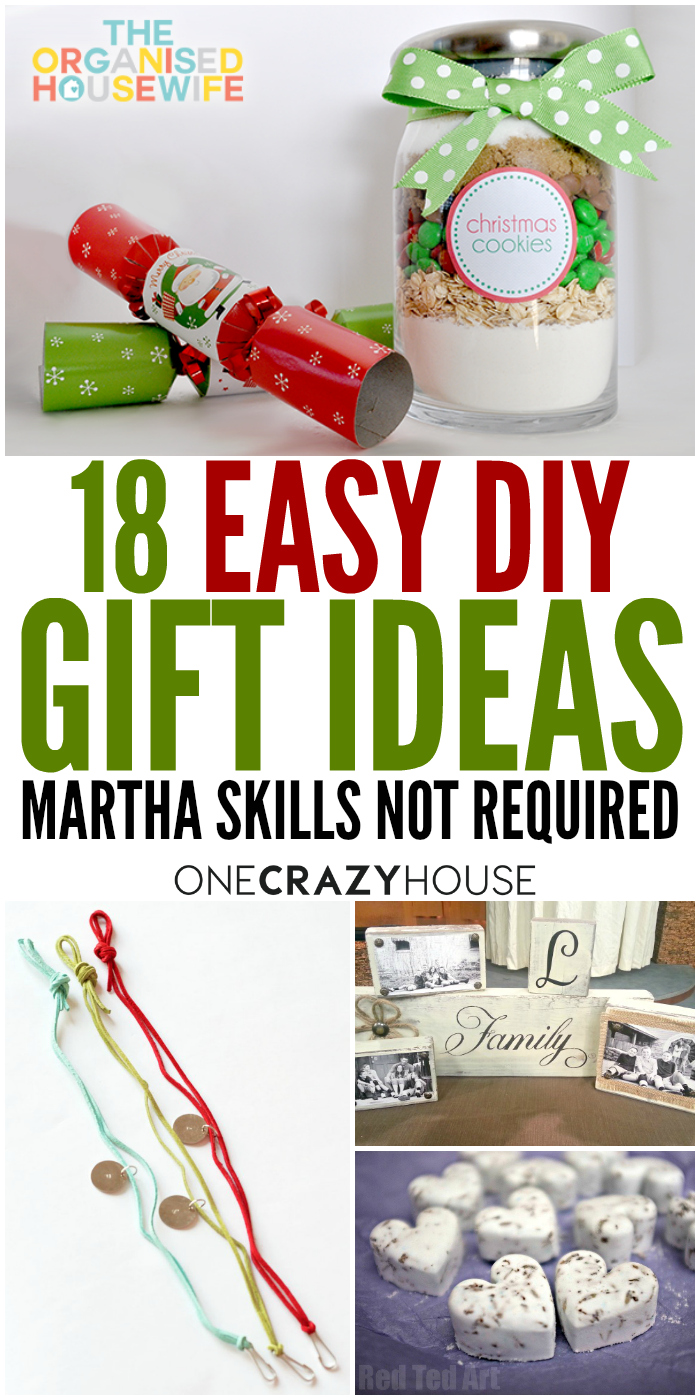 You don't have to be Martha to make these easy DIY gift ideas.