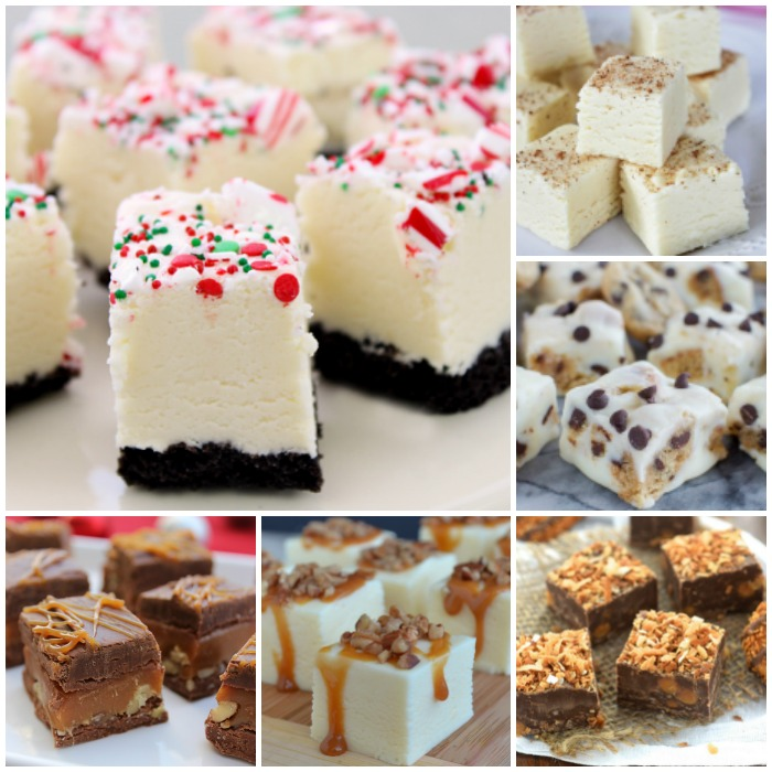 Fudge Recipes for Gift Giving image collage