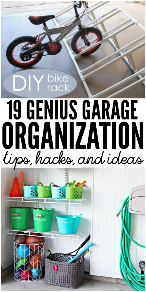 Genius Garage Organization Tips #HomeHacks #OrganizationIdeas