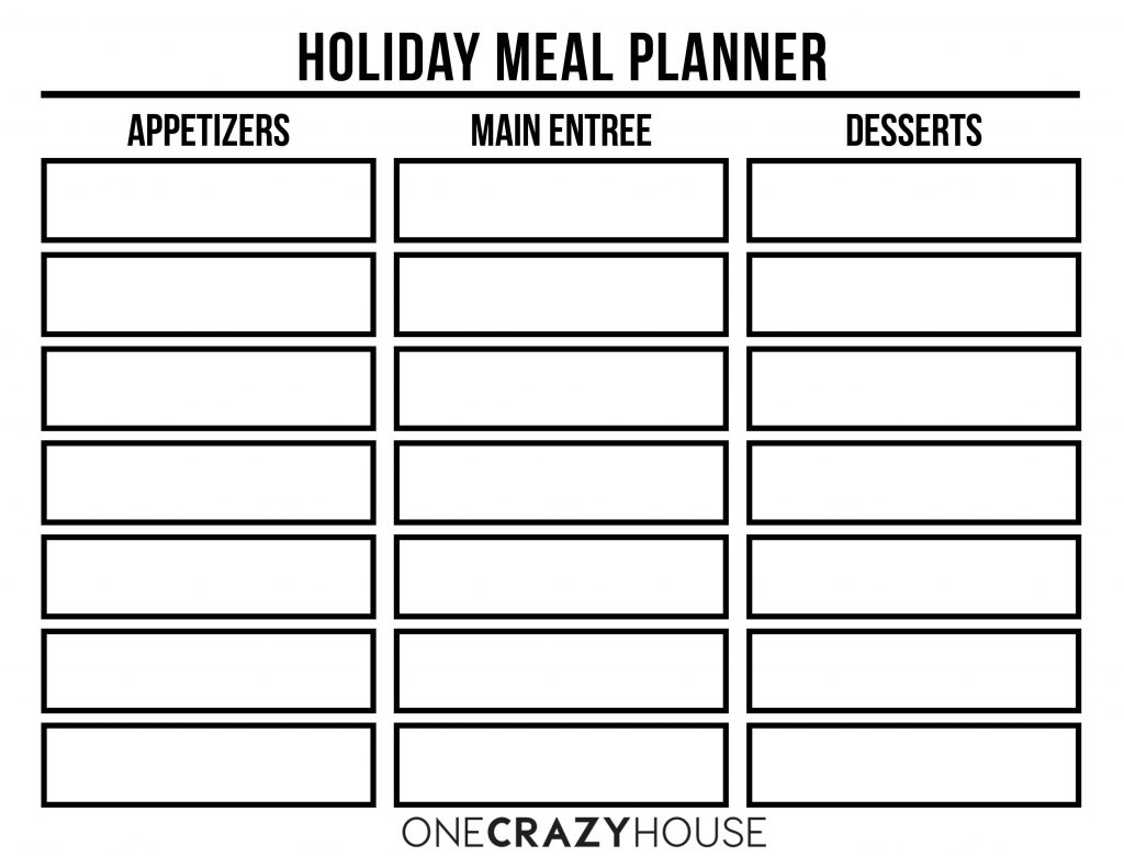 Well what do you know, we made you a very simple holiday meal planner!