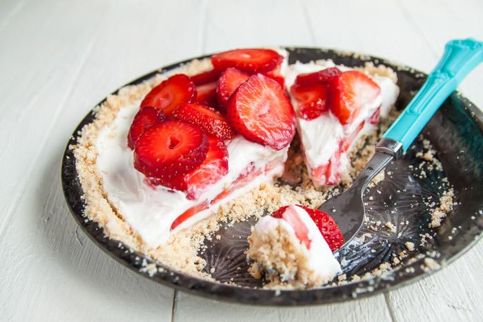 Strawberry Mascarpone Yogurt Pie | Dessert for Two