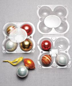 plastic apple containers for ornament storage