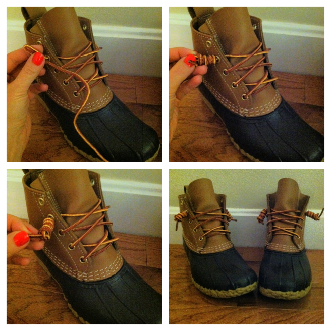 bean-boot-lace tying trick